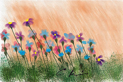Painting - Wild Flowers by Charlie Roman