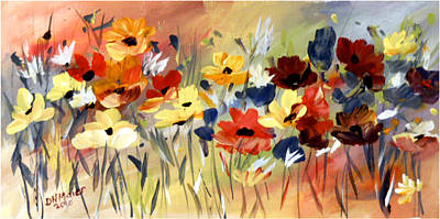 Art Print featuring the painting Wild Flowers by Dorothy Maier