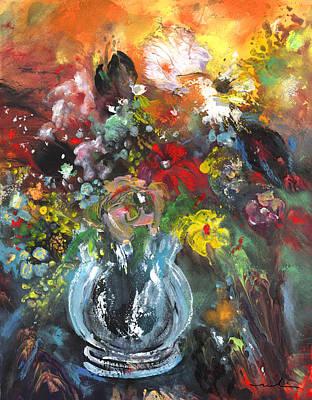 Painting - Wild Flowers In A Glass Jar by Miki De Goodaboom