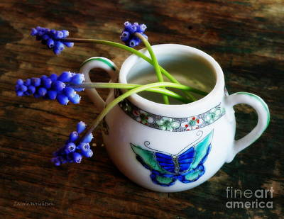 Wild Flowers In Sugar Bowl Art Print