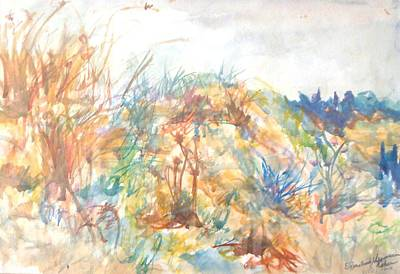 Painting - Wild Flowers In Talpiot by Esther Newman-Cohen