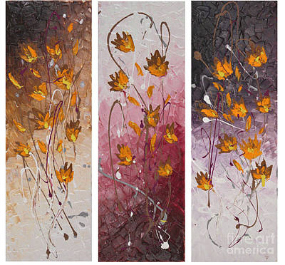 Painting - Wild Flowers by Preethi Mathialagan