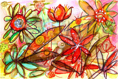 Wild Flowers Series #1 Art Print by Niya Christine