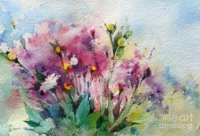 Purple Painting - Wild Fowers by Natalia Eremeyeva Duarte
