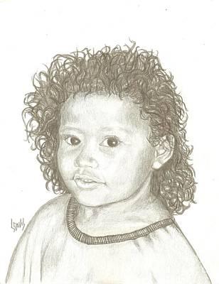 Drawing - Wild Girl by Lew Davis