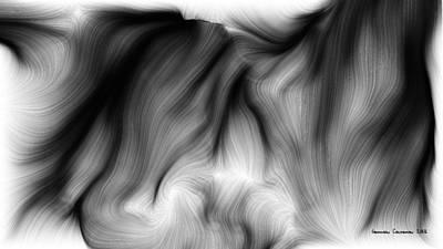 Wild Hair 1 Art Print by German Calderon