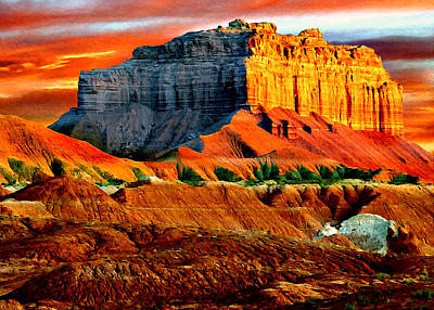 Painting - Wild Horse Butte Utah by Bob and Nadine Johnston