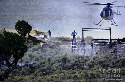 Photograph - Wild Horse Escapes From The Jute Chute by Afroditi Katsikis
