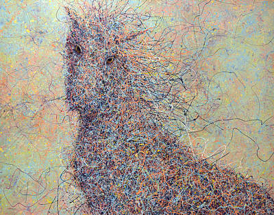 Loose Painting - Wild Horse by James W Johnson