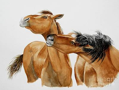 Painting - Wild Horse Kisses by Joette Snyder