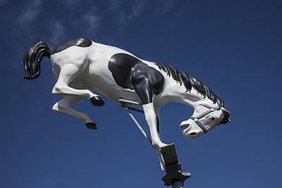 Wild Horse Statue Art Print