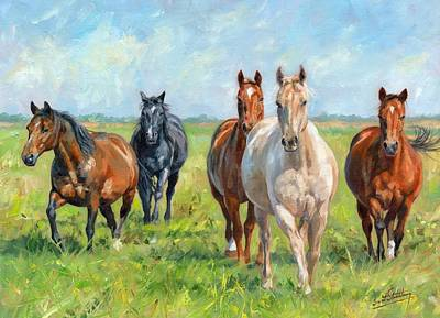 Free Painting - Wild Horses by David Stribbling