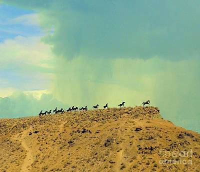 Photograph - Wild Horses Monument by Janette Boyd