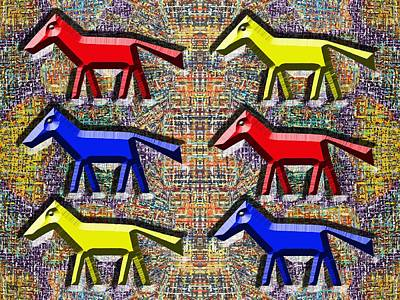 Nature Abstract Painting - Wild Horses by Patrick J Murphy