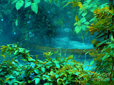 Guns Arms And Weapons - Wild Hot Spring in Jungle  by Mark Van Martin