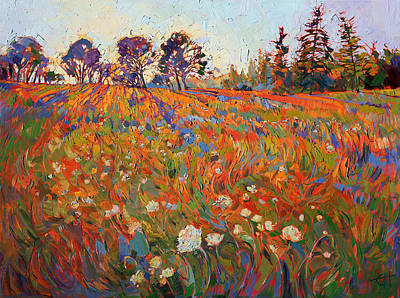 Painting - Wild In Flower by Erin Hanson