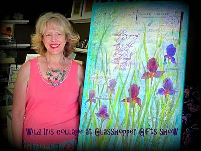 Photograph - Wild Iris Collage At Glasshopper Gifts Show by Carla Parris