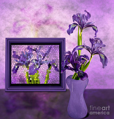 Photograph - Wild Iris Still Life by Shirley Mangini