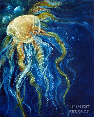 Painting - Wild Jellyfish Reflection by Randy Wollenmann