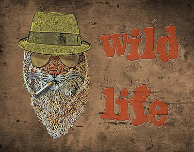 Digital Art - Wild Life by Jonah Gibson