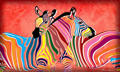 Pittie Digital Art - Wild Love  by Mark Ashkenazi