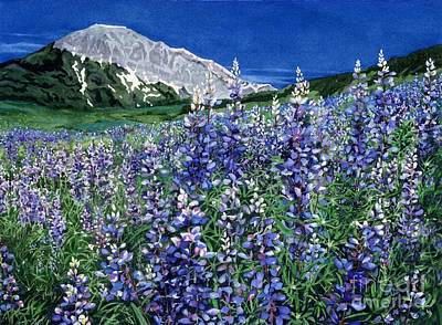 Painting - Wild Lupine by Barbara Jewell