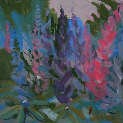 Painting - Wild Lupine by Francine Frank