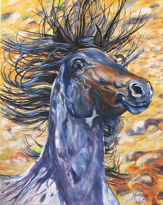Melody Perez Painting - Wild by Melody Perez