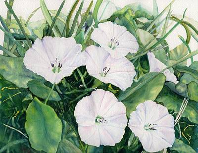 Unity Painting - Wild Morning Glories Unity Village Ground Series by Joann Perry