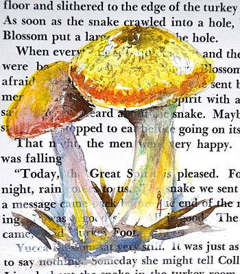 Wild Mushrooms Art Print by Beverley Harper Tinsley