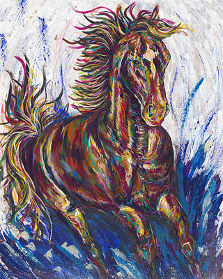 Kentucky Derby Painting - Wild Mustang by Lovejoy Creations