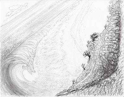 Drawing - Wild Ocean by Jim Taylor