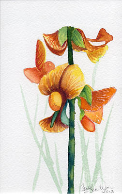 Painting - Wild Orchid by Carolyn Weir