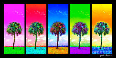 Photograph - Wild Palms X5 by John Douglas