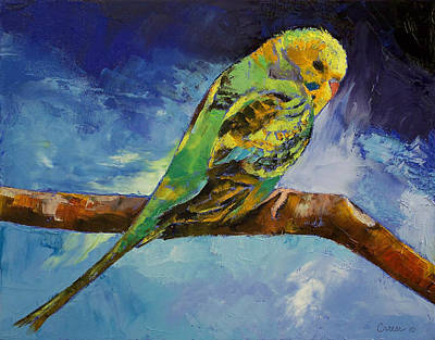 Parakeet Painting - Wild Parakeet by Michael Creese