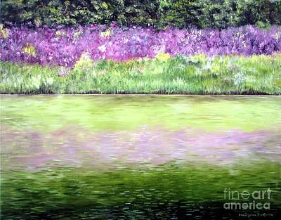 Art Print featuring the painting Wild Phlox by Anna-maria Dickinson