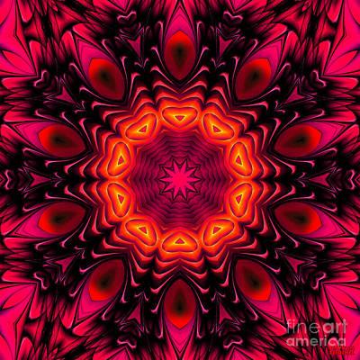 Art Print featuring the digital art Wild Pink by Hanza Turgul