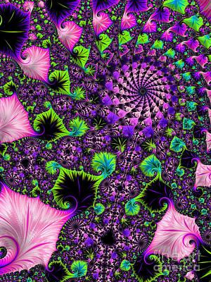 Wild Pink Swirl Art Print by Linda Troski
