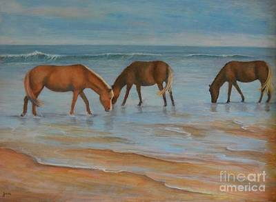 Painting - Wild Ponies by Jana Baker