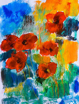 Bold Painting - Wild Poppies by Elise Palmigiani