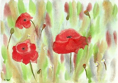 Painting - Wild Poppies by Tracey Williams