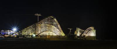 Rollercoaster Digital Art - Wild Ride In Wildwood by Bill Cannon