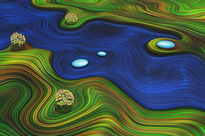 Digital Art - Wild River by Frank Lee Hawkins Eastern Sierra Gallery