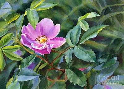 Wild Rose Painting - Wild Rose Blossom 2 by Sharon Freeman