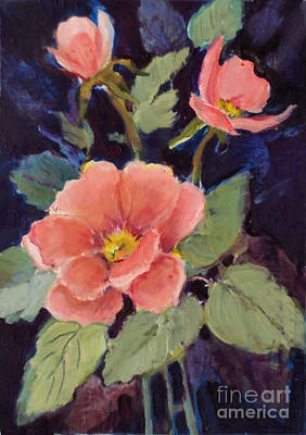 Painting - Wild Rose by Diane Ursin