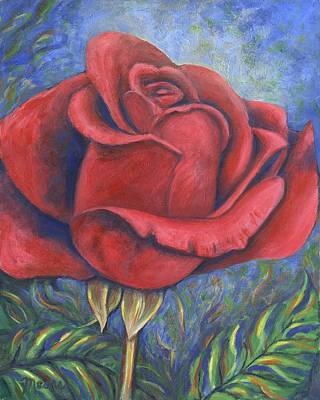 Valentines Day Painting - Wild Rose Two by Linda Mears