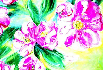 Mixed Media - Wild Roses 34.1. Morning In My Garden  by Oksana Semenchenko