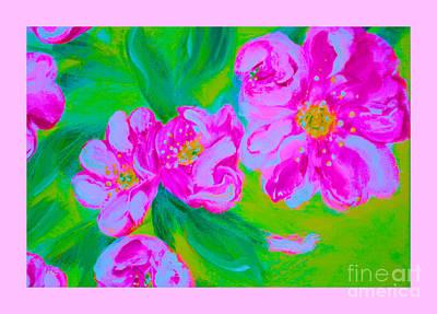 Mixed Media - Wild Roses 34.2 by Oksana Semenchenko