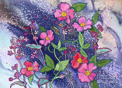 Wild Roses Art Print by Teresa Ascone