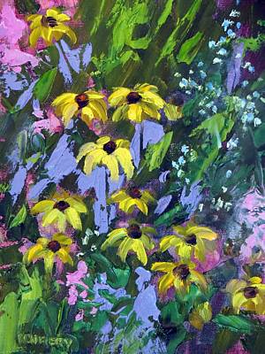 Painting - Wild Rudbeckia by Ken Fiery
